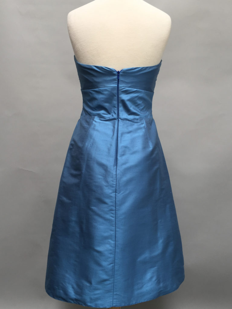 Blue strapless dress-5757-Deauville Dress-Shantung-Siri-San Francisco-back