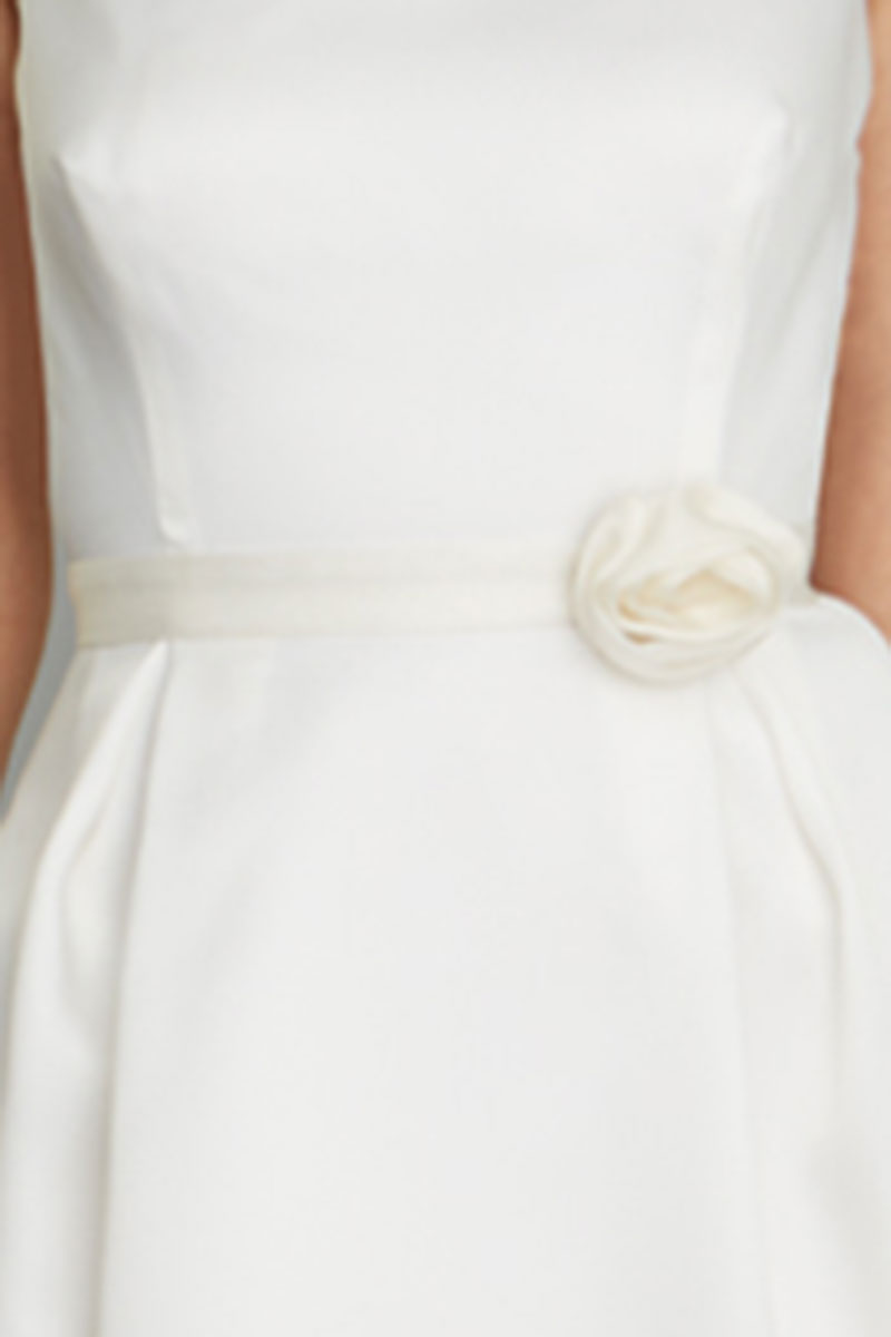 Narrow white bridal belt, Siri, San Francisco