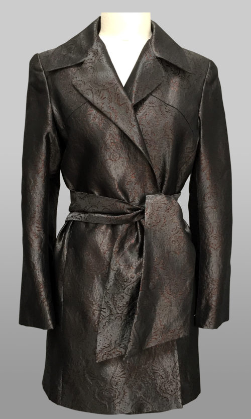 Metallic Wrap Coat