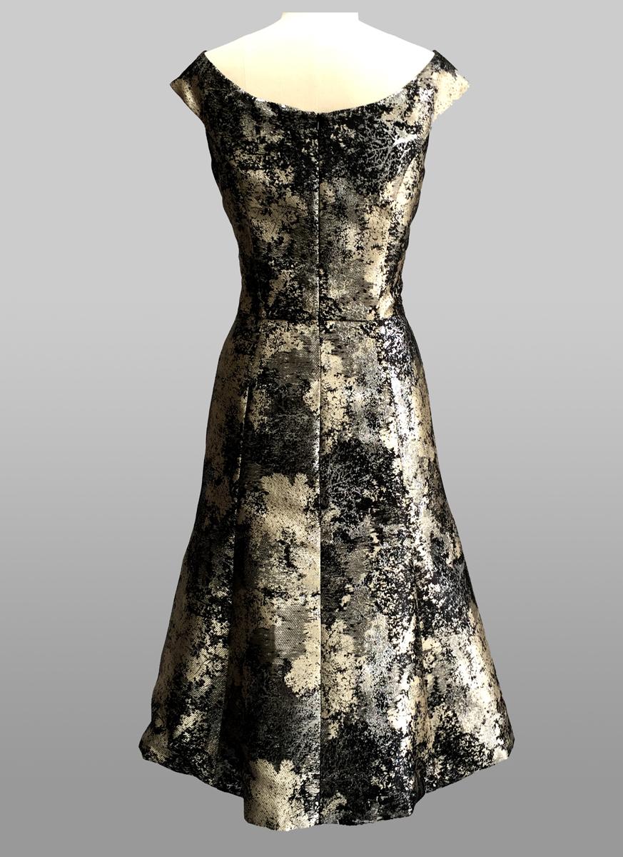 Metallic cocktail dress - back