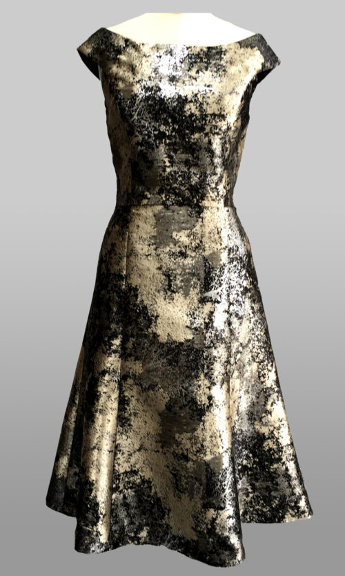 Metallic cocktail dress