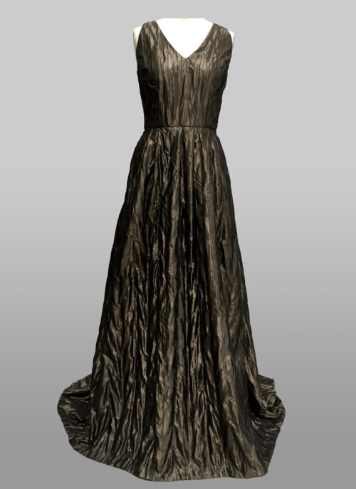 taupe gown