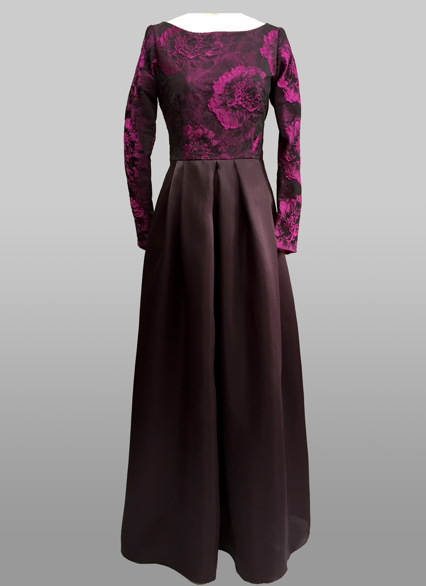 Dark purple Gown with sleeve