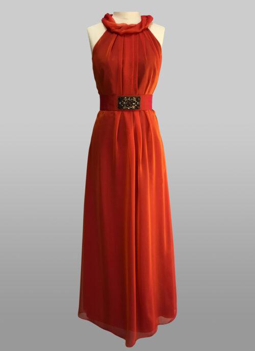 Silk chiffon gown