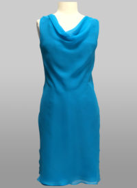 Blue chiffon dress