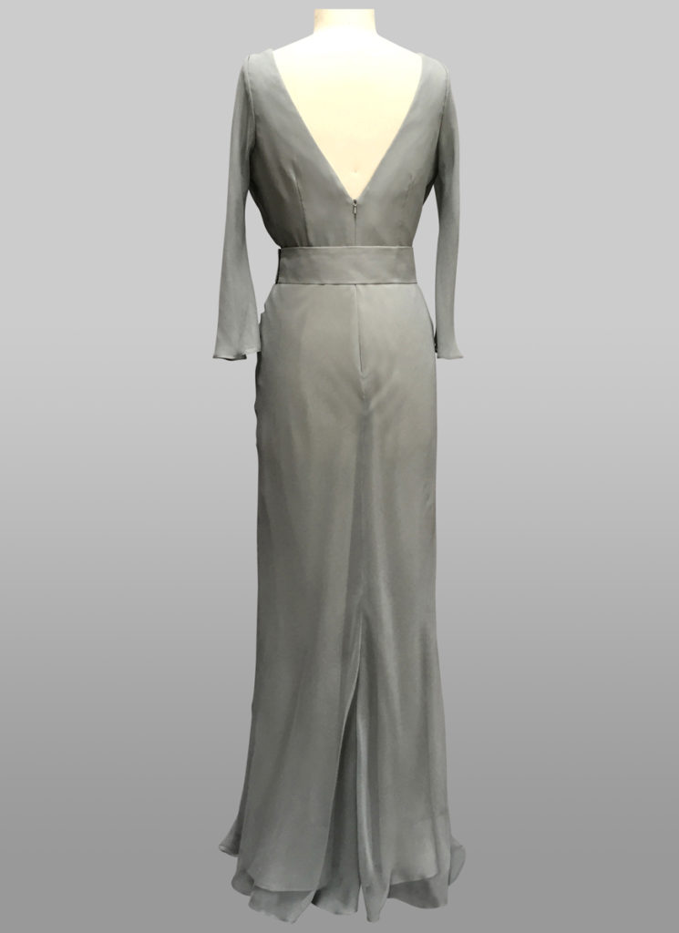 Silver grey gown