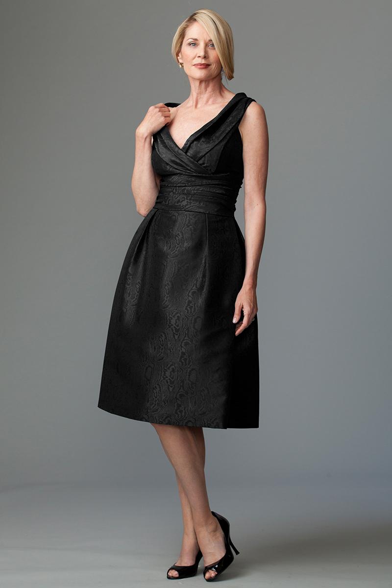 Black Moire Dress