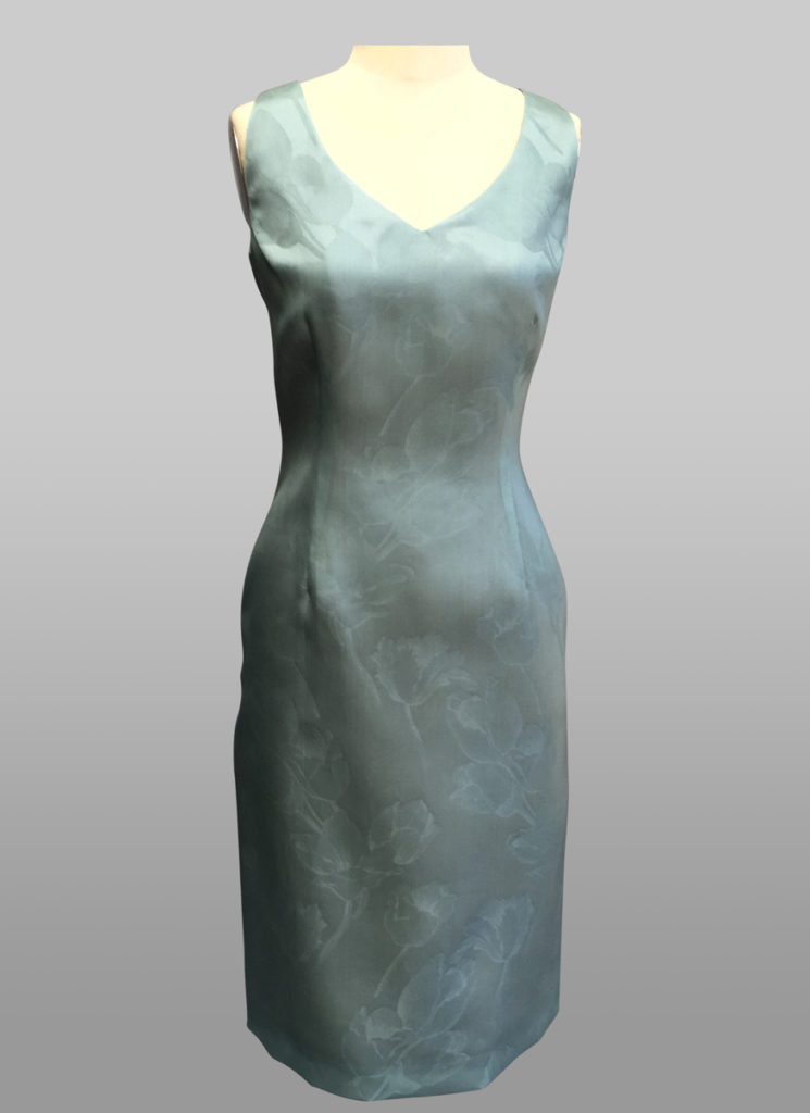 Organza V neck dress