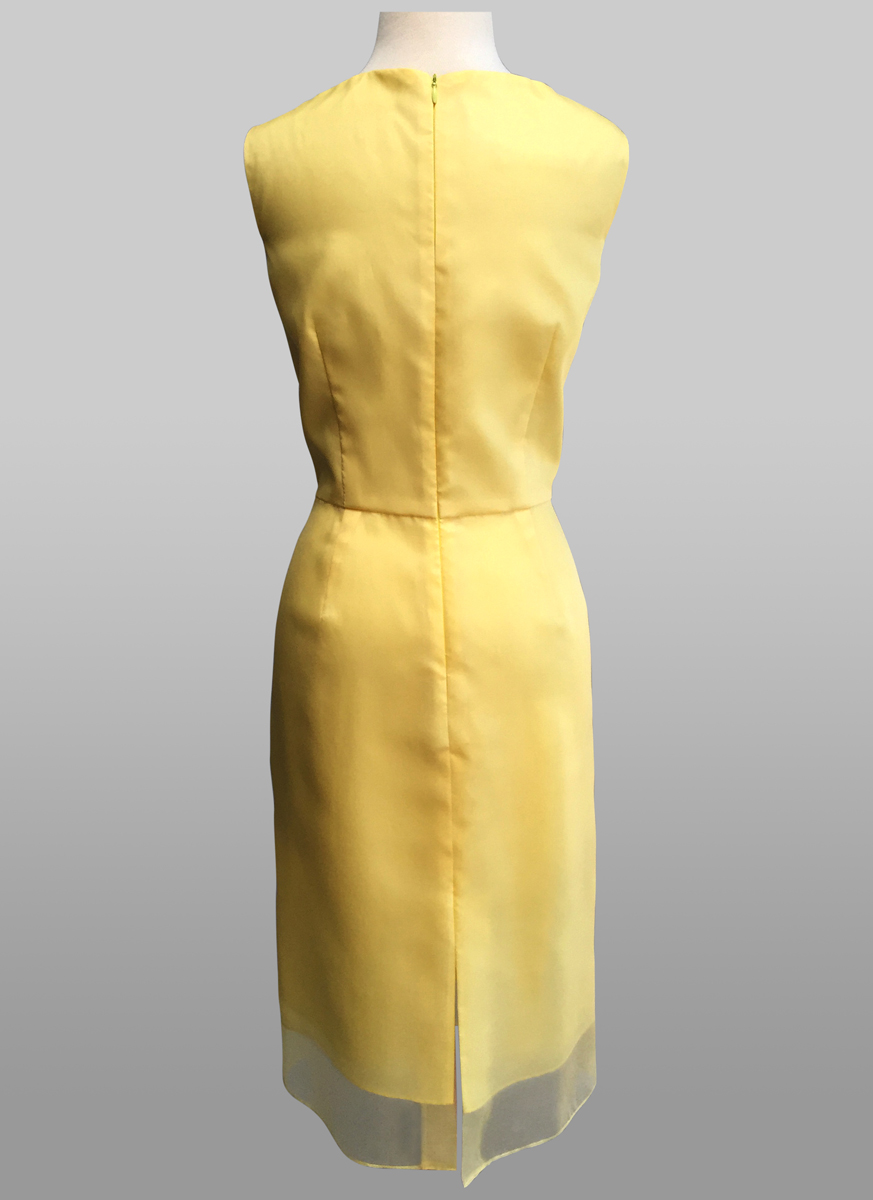 Yellow organza dress - back