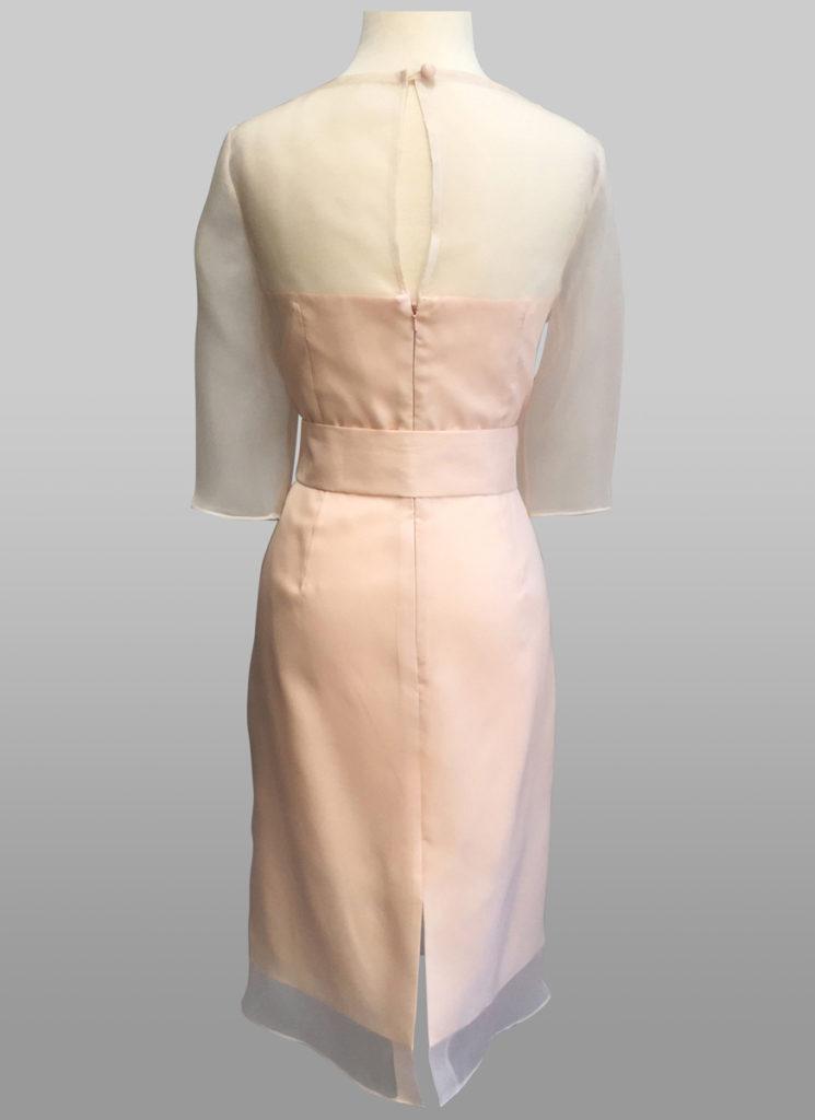 Pink organza dress with sash back