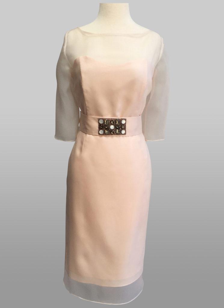 Pink organza dress