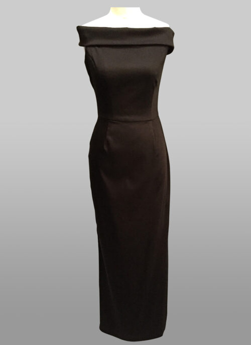 Black stretch gown