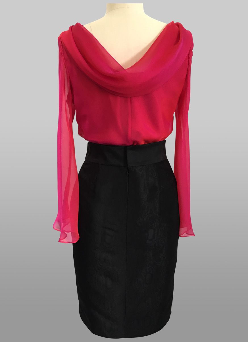 Siri Pink Concerto Top back
