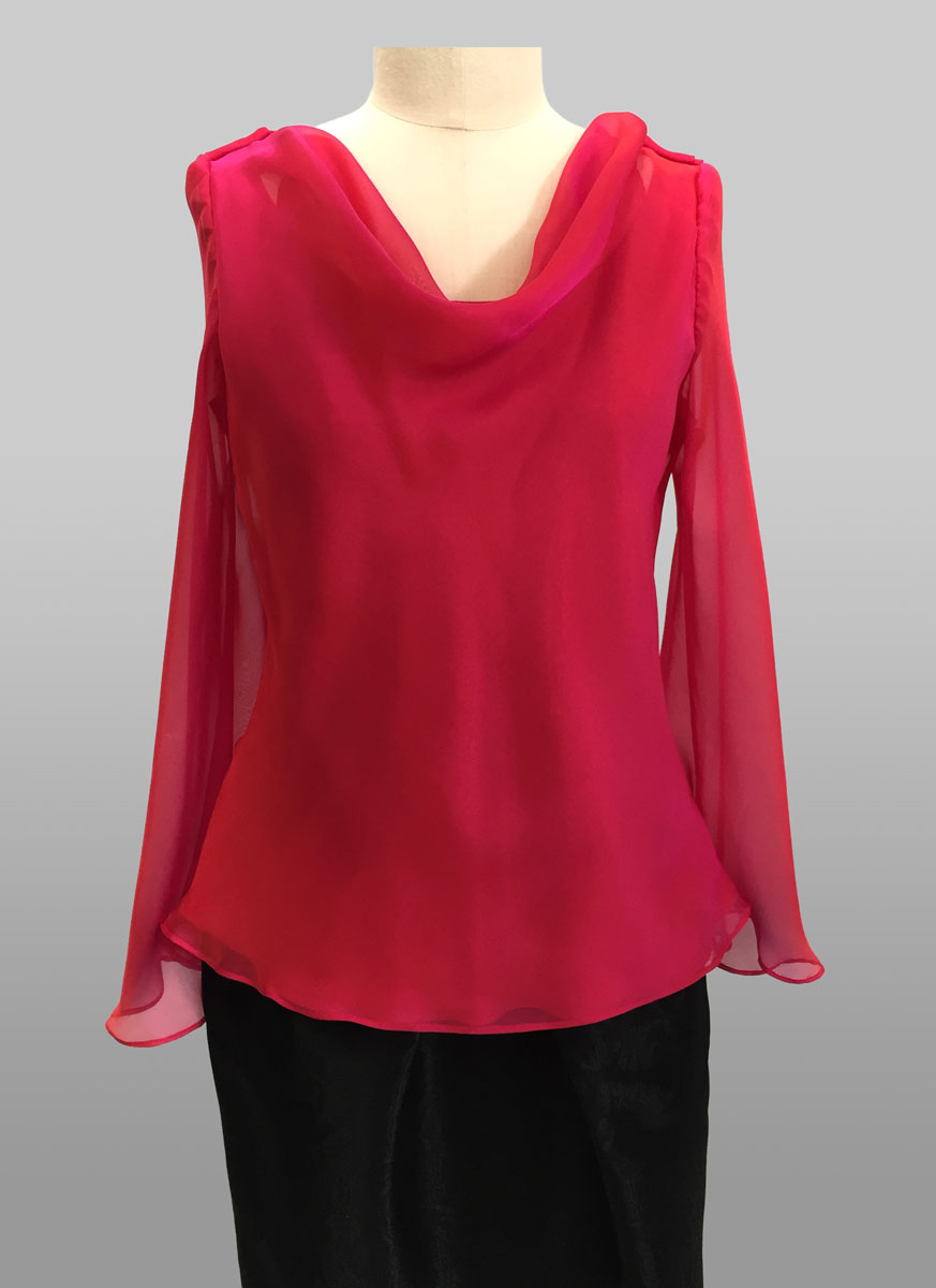 Chiffon Top with sleeve