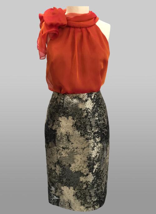 Siri Metallic Skirt
