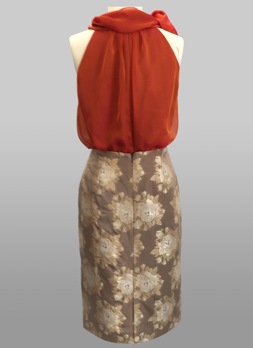 Siri Chiffon Top & Slim Skirt