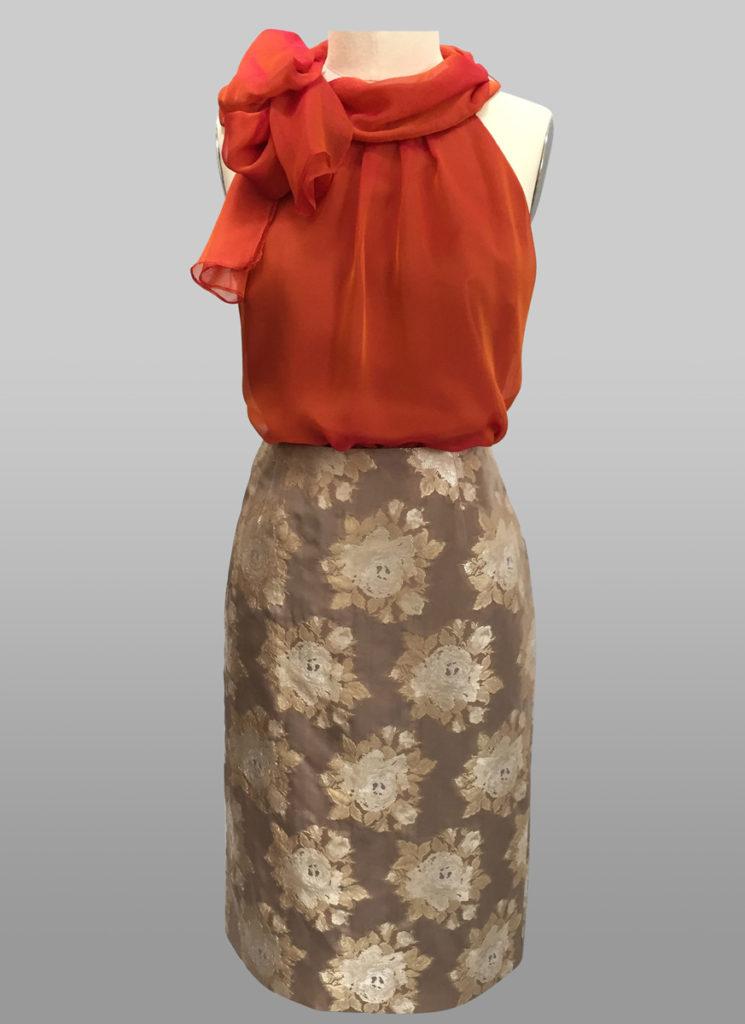 Siri Chiffon Sleeveless Top and Slim Skirt