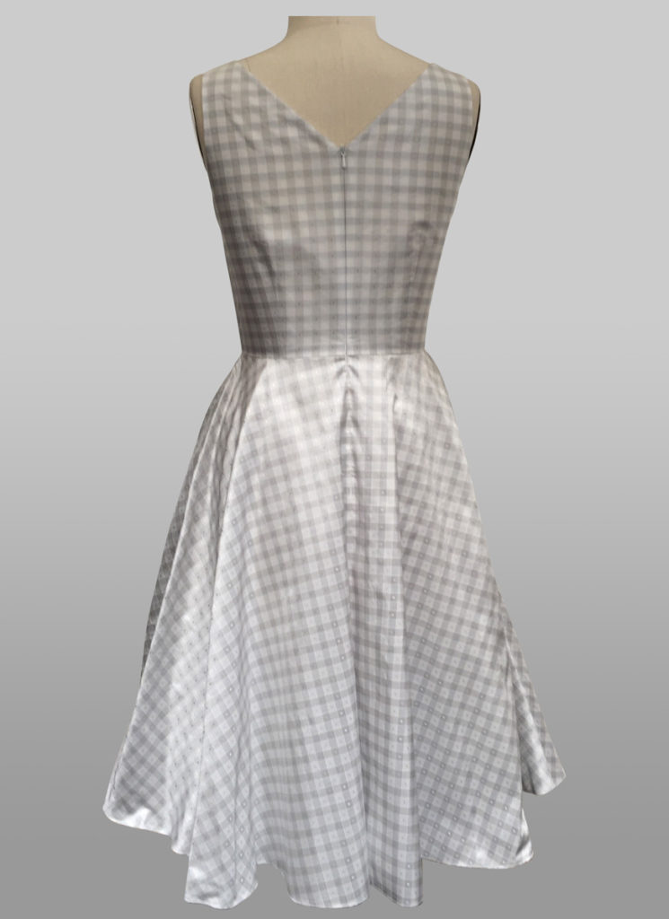 silver check dress