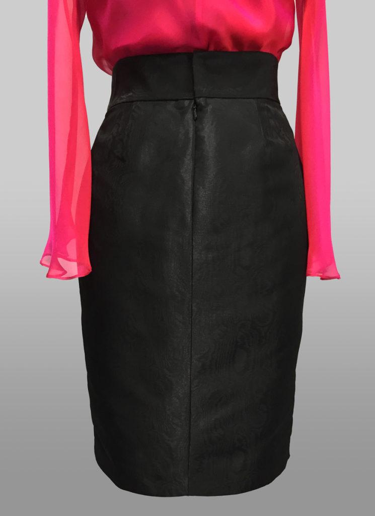 Siri Black Moire Skirt
