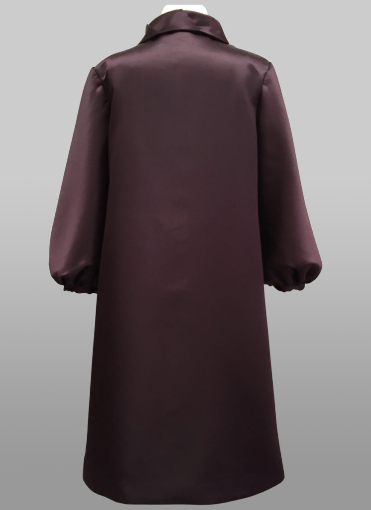 Dark Purple Evening Coat