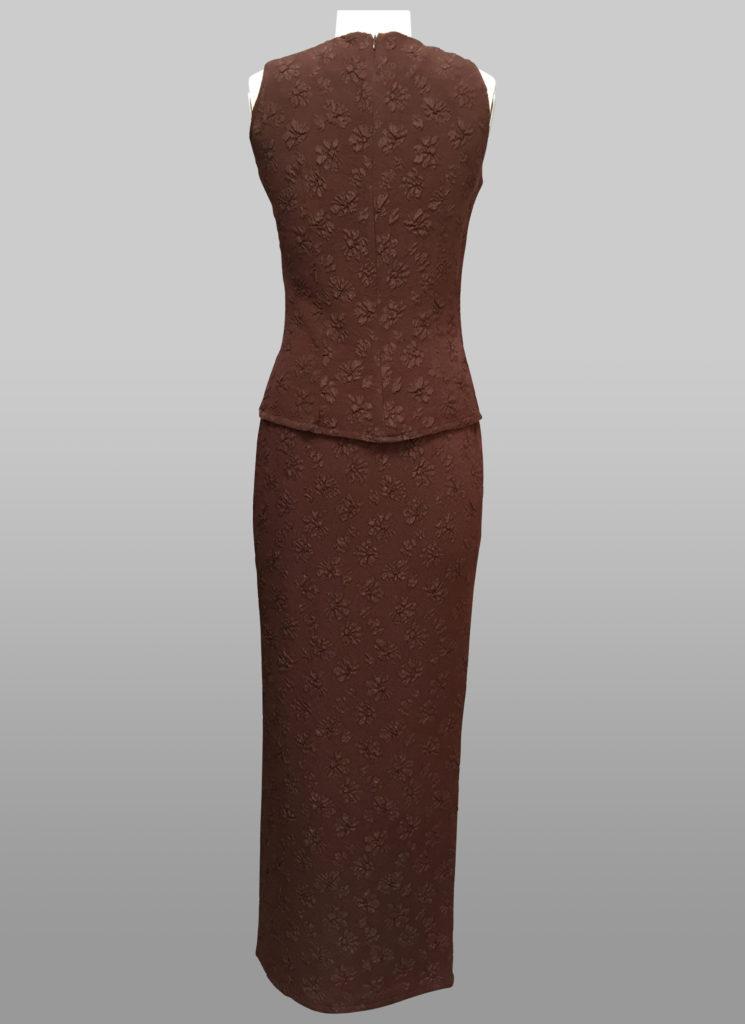 Sleeveless top & skirt