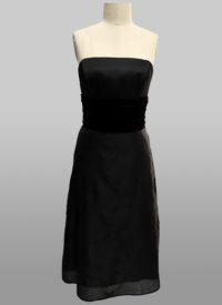 Black velvet embroidered dress