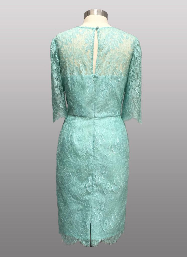 Siri aqua lace dress