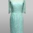 Aqua lace dress