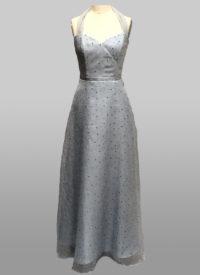 Silver organza gown