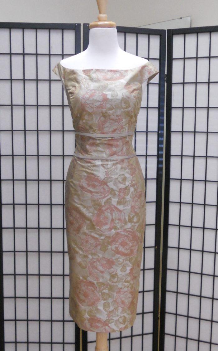 Siri 5961 Venetian Dress Rose Jacquard