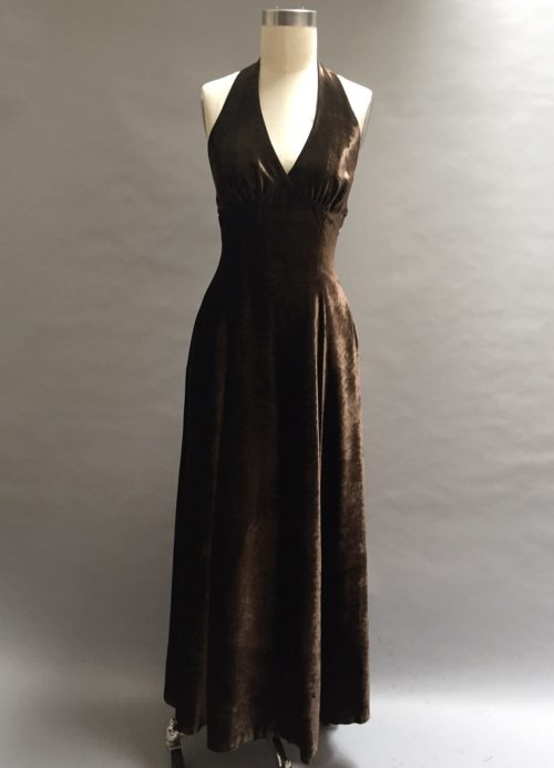 Chocolate Velvet Gown