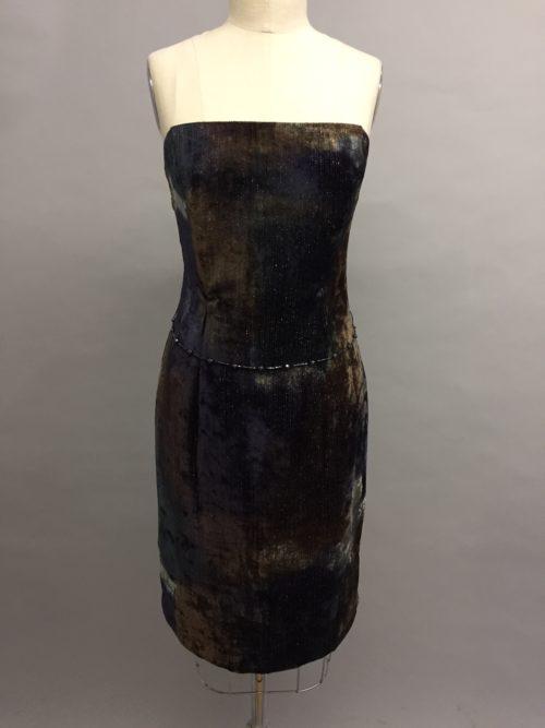 Siri ombre velvet dress