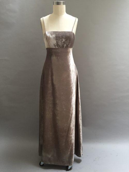 Siri Silver velvet gown