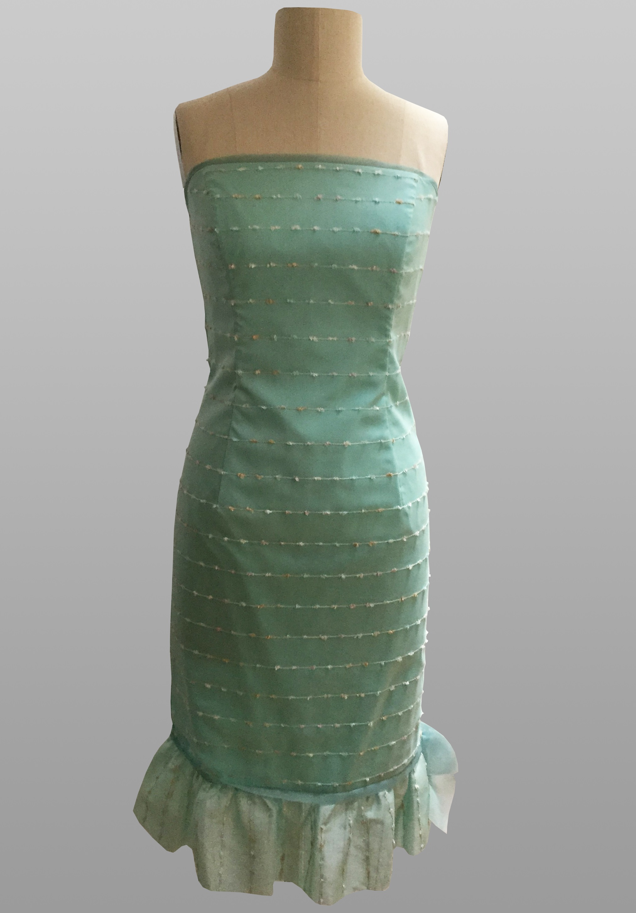 Siri aqua cocktail dress