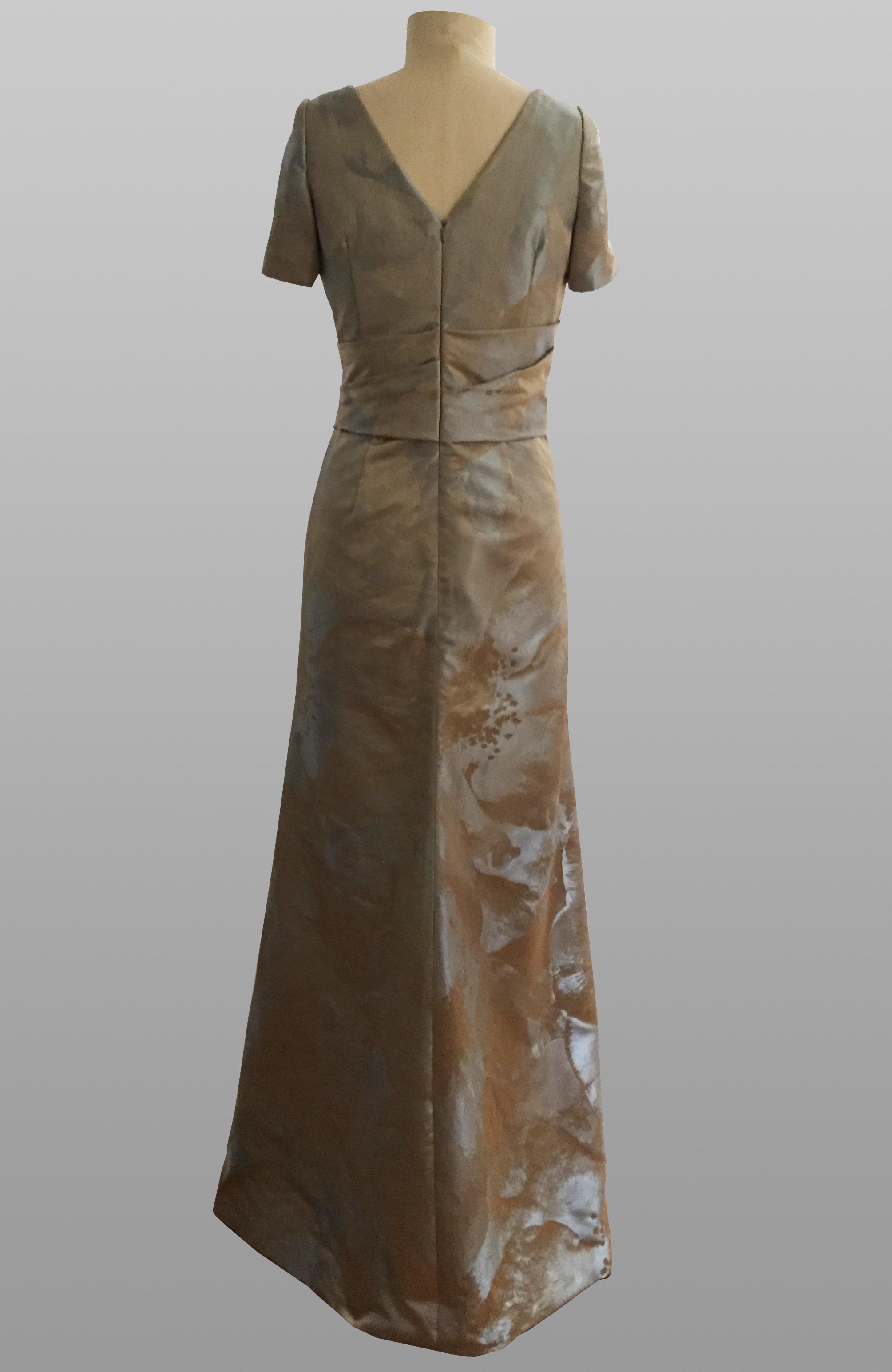 Siri blue silver gown
