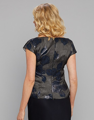 Siri Navy Top back