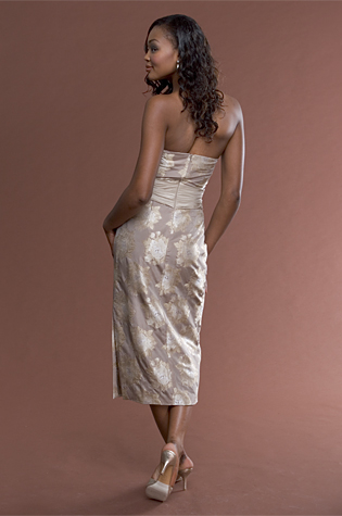 Floral Taupe Dress
