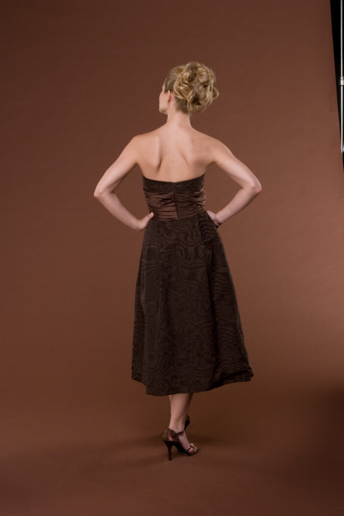 Chocolate special occasion dress