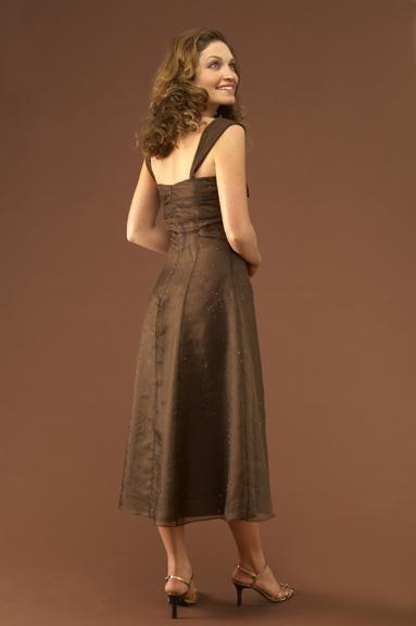 Dark Brown Cocktail Dress