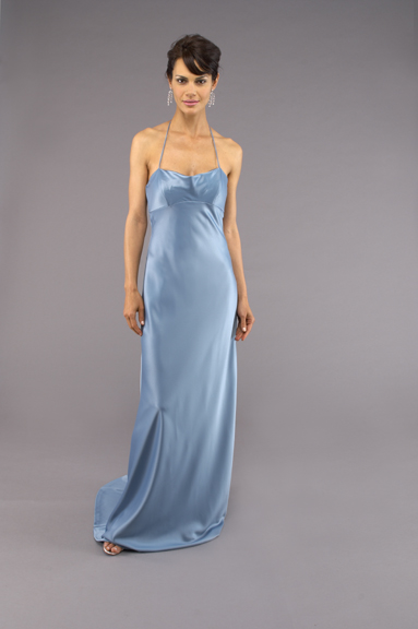 Blue sexy gown