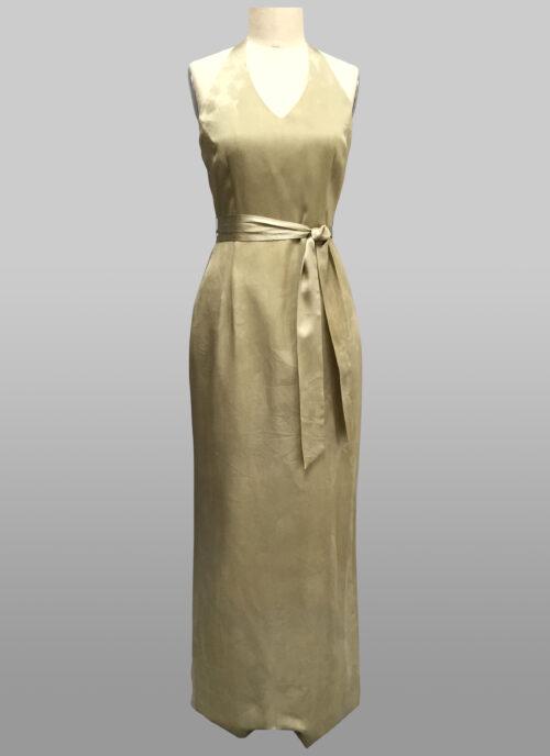 Sage halter gown