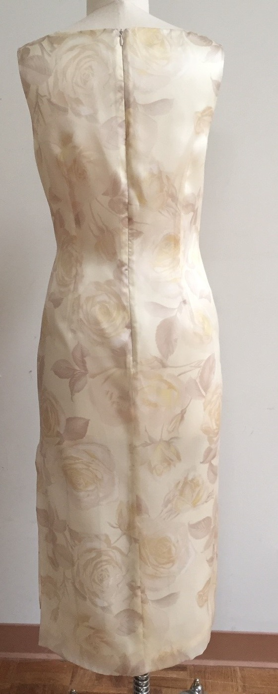 Lemon Floral Tea length dress