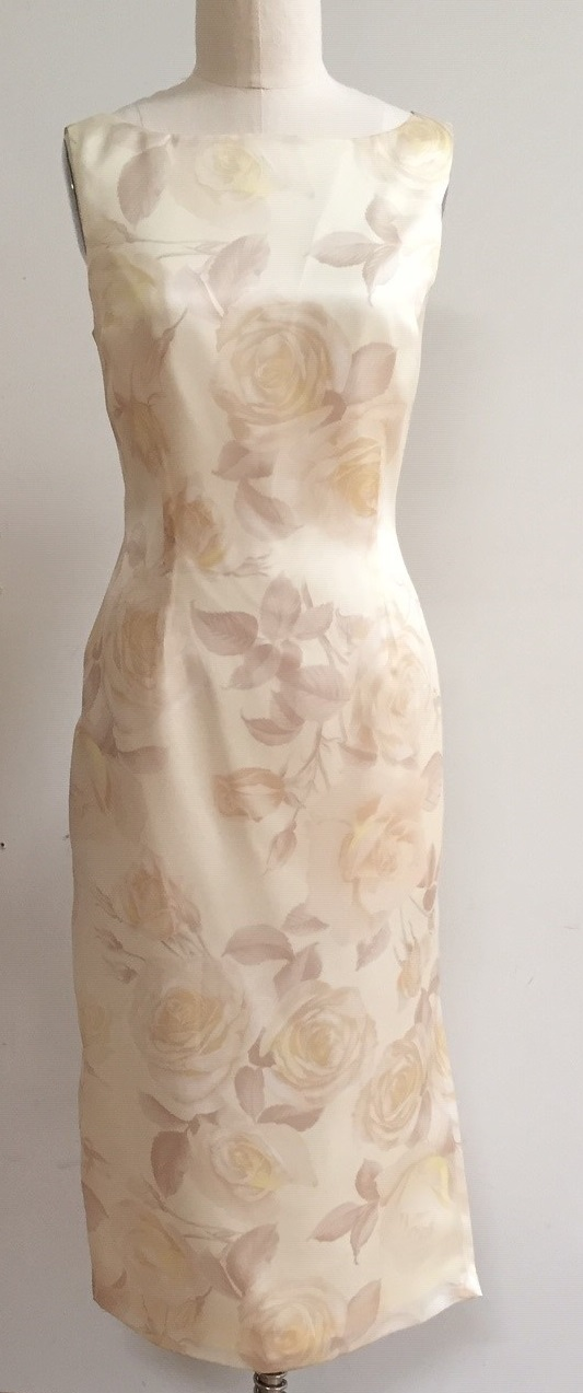 Champagne floral dress