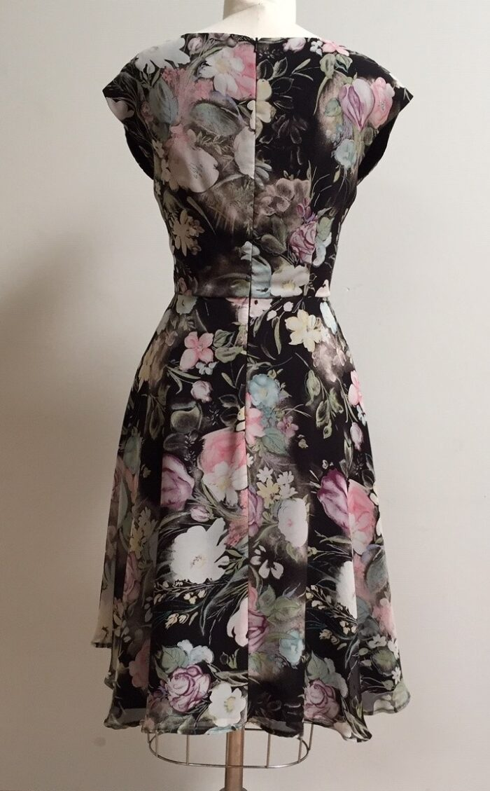 Black floral dress for a party