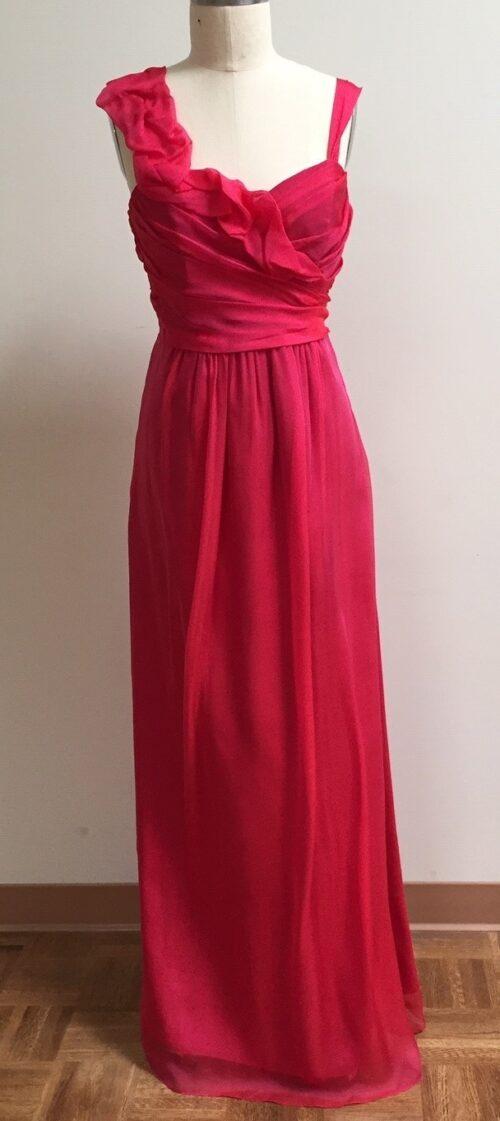 Fuchsia Chiffon Gown for bridesmaid