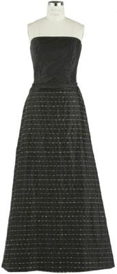 Siri Black Strapless A-line Gown