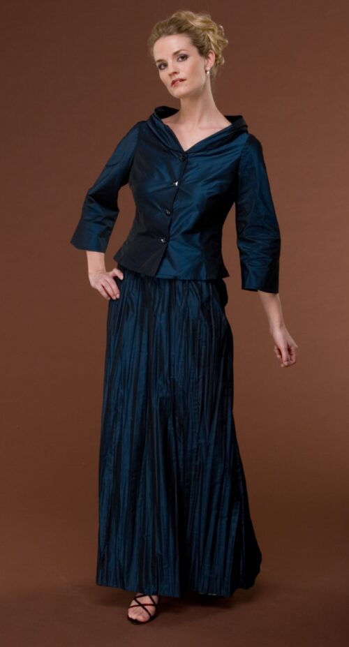 2 piece Navy blouse and skirt