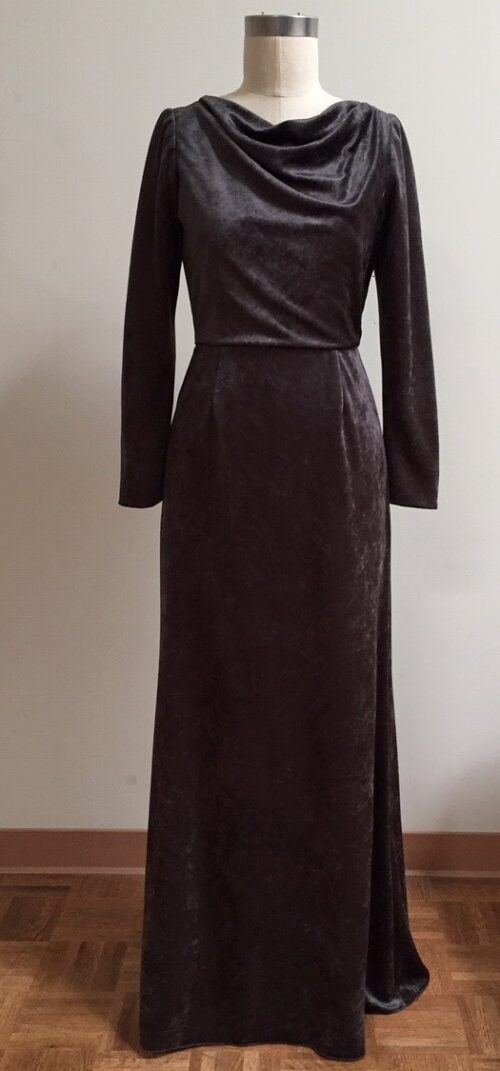 gown with sleeves for black tie event