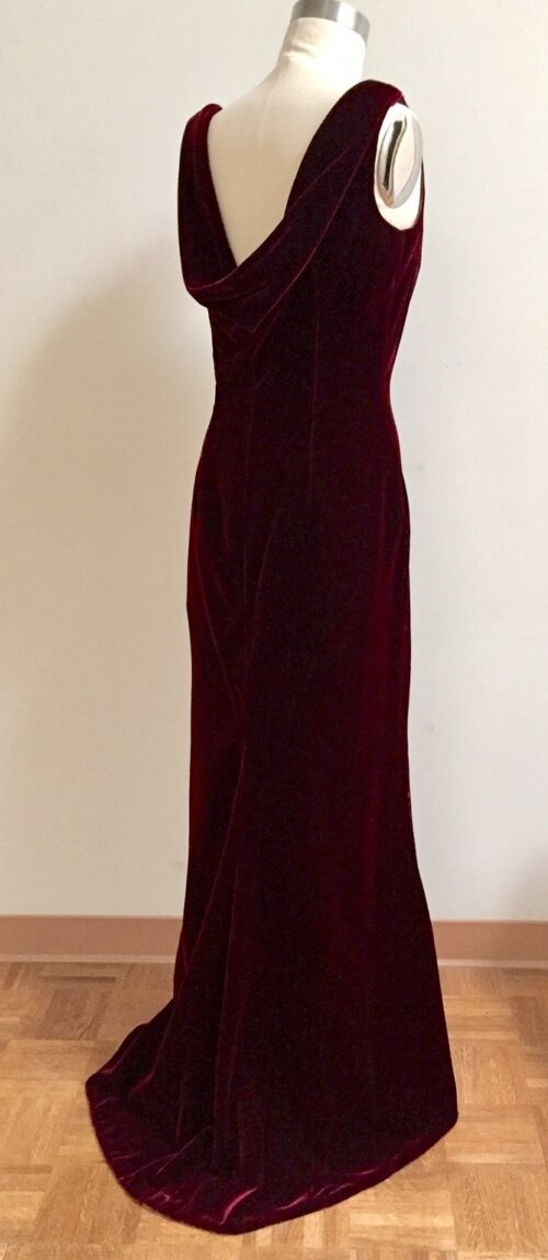 Christmas black tie gown