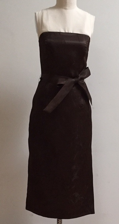 silk evening dress